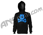 HK Army Crossbone Throwback Pull Over Hooded Sweatshirt - Black