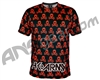 HK Army Dri Fit T-Shirt - All Over Black/Red
