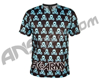 HK Army Dri Fit T-Shirt - All Over Black/Turquoise