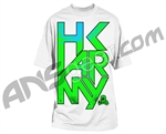 HK Army Dusk Paintball T-Shirt - White - Blue/Green