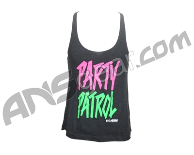 HK Army Party Patrol Girls Racerback Tank Top - Black