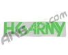 HK Army Typeface Car Sticker - Green