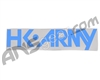 HK Army Typeface Car Sticker - Teal