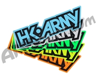 HK Army Typeface Sticker Pack - 5 Stickers