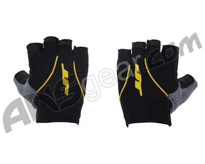 JT Youth Fingerless Paintball Gloves - Yellow
