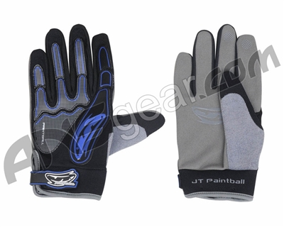 JT Full Finger Paintball Gloves - Blue