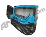JT ProFlex Thermal Paintball Mask w/ Clear Lens - EPS Aqua Blue