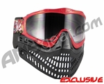 Jt ProFlex Thermal Paintball Mask - Limited Edition Punk Rock Red Red