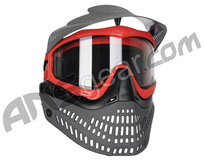 Jt ProFlex Thermal Paintball Mask - 2.0 Limited Edition Red/Black/Grey w/ Grey Visor