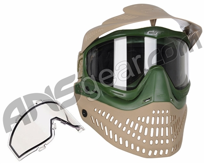 Jt ProFlex Thermal Paintball Mask - 2.0 Limited Edition Tan/Olive w/ Tan Visor