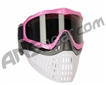 JT ProFlex Thermal Paintball Mask w/ Smoke Lens - Pink w/ Black/White Bottoms