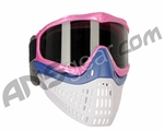 JT ProFlex Thermal Paintball Mask w/ Smoke Lens - Pink w/ Blue/White Bottoms