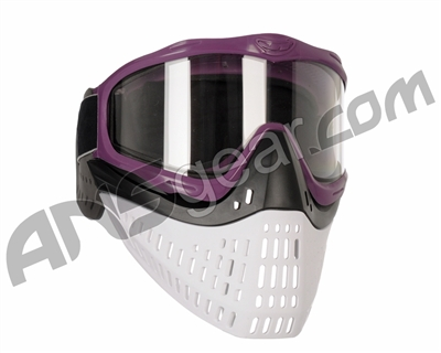 JT ProFlex Thermal Paintball Mask w/ Clear Lens - Purple w/ Black/White Bottoms