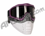 JT ProFlex Thermal Paintball Mask w/ Smoke Lens - Purple w/ Grey/White Bottoms
