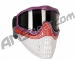 JT ProFlex Thermal Paintball Mask w/ Smoke Lens - Purple w/ Red/White Bottoms