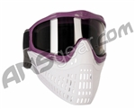 JT ProFlex Thermal Paintball Mask w/ Smoke Lens - Purple w/ White/White Bottoms
