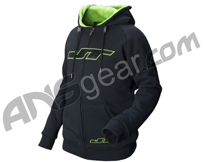 JT Zone Hooded Zip-Up Sweatshirt - Black/Neon Green