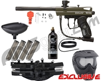 Kingman Spyder Victor Epic Paintball Gun Package Kit - Olive Green