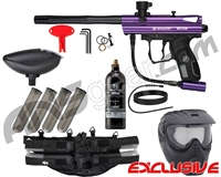 Kingman Spyder Victor Epic Paintball Gun Package Kit - Gloss Purple