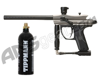 Kingman Spyder Fenix Electronic Paintball Gun w/ FREE 20 oz CO2 Tank - Silver Grey