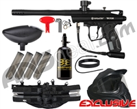 Kingman Spyder Victor Legendary Paintball Gun Package Kit - Diamond Black