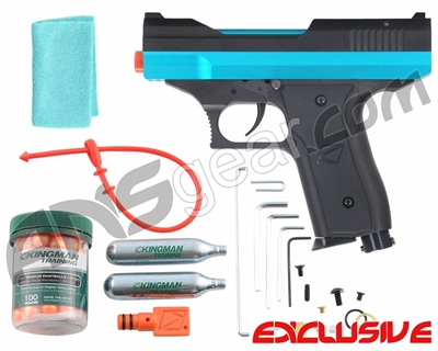 Kingman Training Chaser 43 Caliber Paintball Pistol - Dust Teal