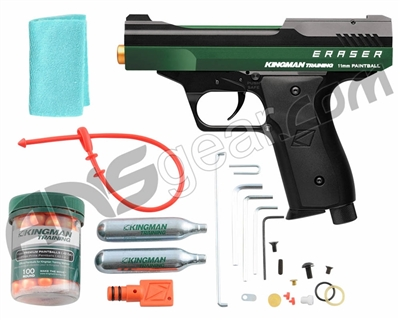 Kingman Training Eraser 43 Caliber Paintball Pistol - Racing Green