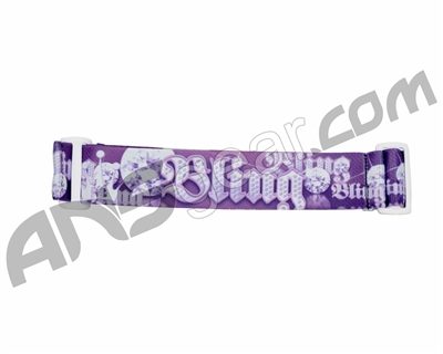 KM Paintball Goggle Strap - 09 Purple Bling