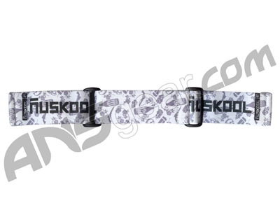 KM Paintball Goggle Strap - 09 Nicky Cubas Guns White