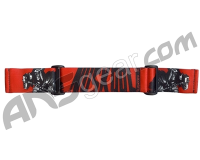 KM Paintball Goggle Strap - 09 Nicky Cubas Thor Red