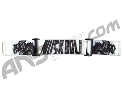 KM Paintball Goggle Strap - 09 Nicky Cubas Thor White
