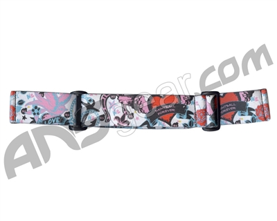 KM Paintball Goggle Strap - 09 Dove Red