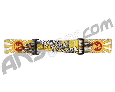 KM Paintball Goggle Strap - 09 Gold Tora