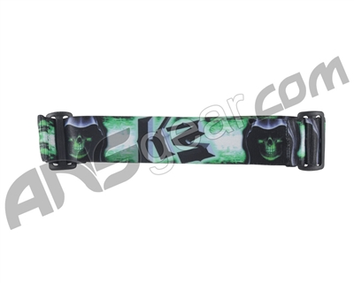 KM Paintball Goggle Strap - 09 Grim Reaper - Green