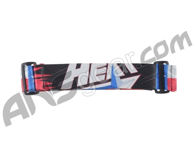 KM Paintball Goggle Strap - 09 Heat Black/Red