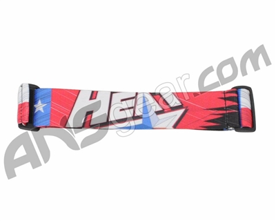 KM Paintball Goggle Strap - 09 Heat Red/Black