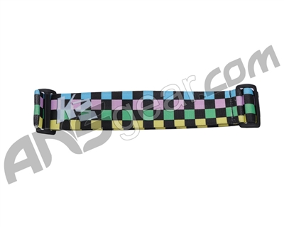 KM Paintball Goggle Strap - 09 Pastel Checkers