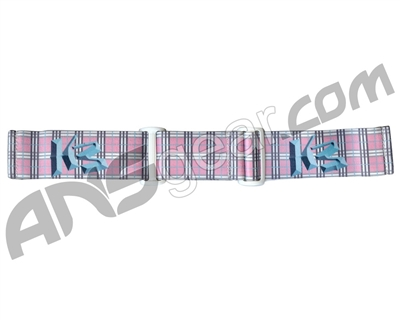 KM Paintball Goggle Strap - 09 Pink Plaid