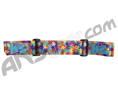 KM Paintball Goggle Strap - 09 Puzzle