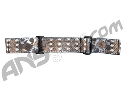 KM Paintball Goggle Strap - 09 Brown Skull Plaid