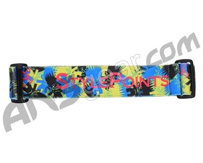 KM Paintball Goggle Strap - 09 Thomas Taylor Blue Troll