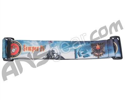 KM Paintball Goggle Strap - 09 USMC Flag