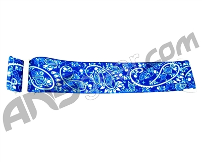 KM Paintball Goggle Strap - Blue Bandana