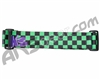 KM Paintball Goggle Strap - Checkered Black/Green