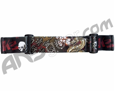 KM Paintball Goggle Strap - Dragon Red