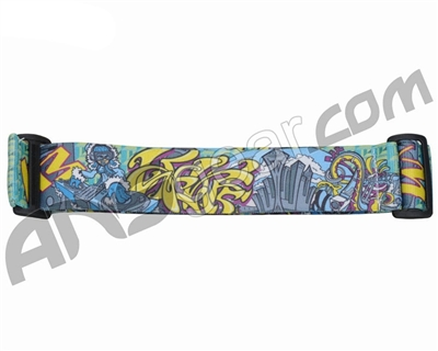 KM Paintball Goggle Strap - Graffiti Spin