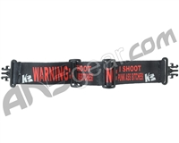 KM Paintball Grill Goggle Strap - Warning