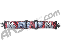 KM Paintball Grill Goggle Strap - Limited Edition Yippy Kiyay Red