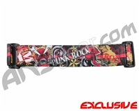 KM Paintball Goggle Strap - Limited Edition Punk Rock Red