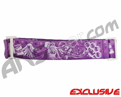 KM Paintball Goggle Strap - Limited Edition Purple Love
